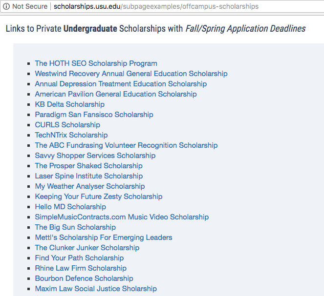 scholarship links demoted
